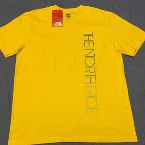 North Face Yellow T-Shirt with Logo